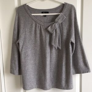 Aqua large gray cashmere cardigan sweater